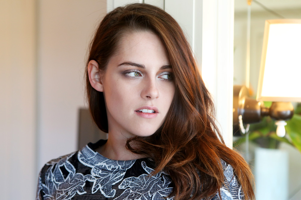 Kristen stewart into the gloss for The stewarts