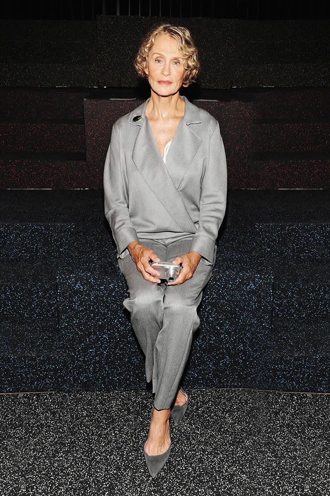 Lauren Hutton Makes A Case For Single Color Dressing