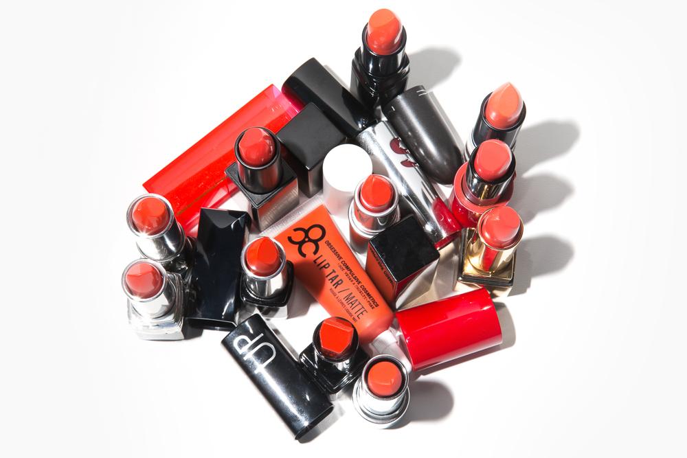 Image result for Fiery orange lipstick