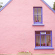 Pink pastel house in Ardgroom Village, Cork, Ireland