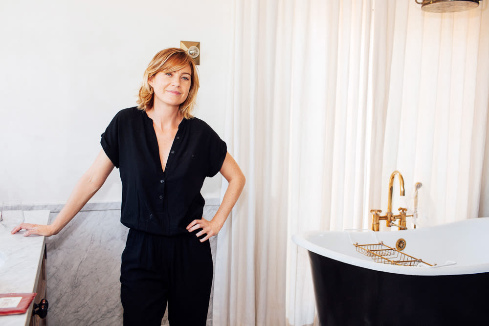 At Home With Ellen Pompeo Talking Beauty And Aging | Into The Gloss