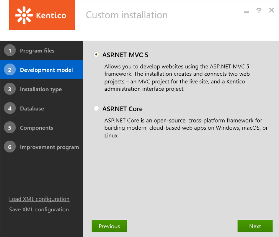 kentico phoenix custom installation