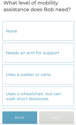 Mobility Questions in App