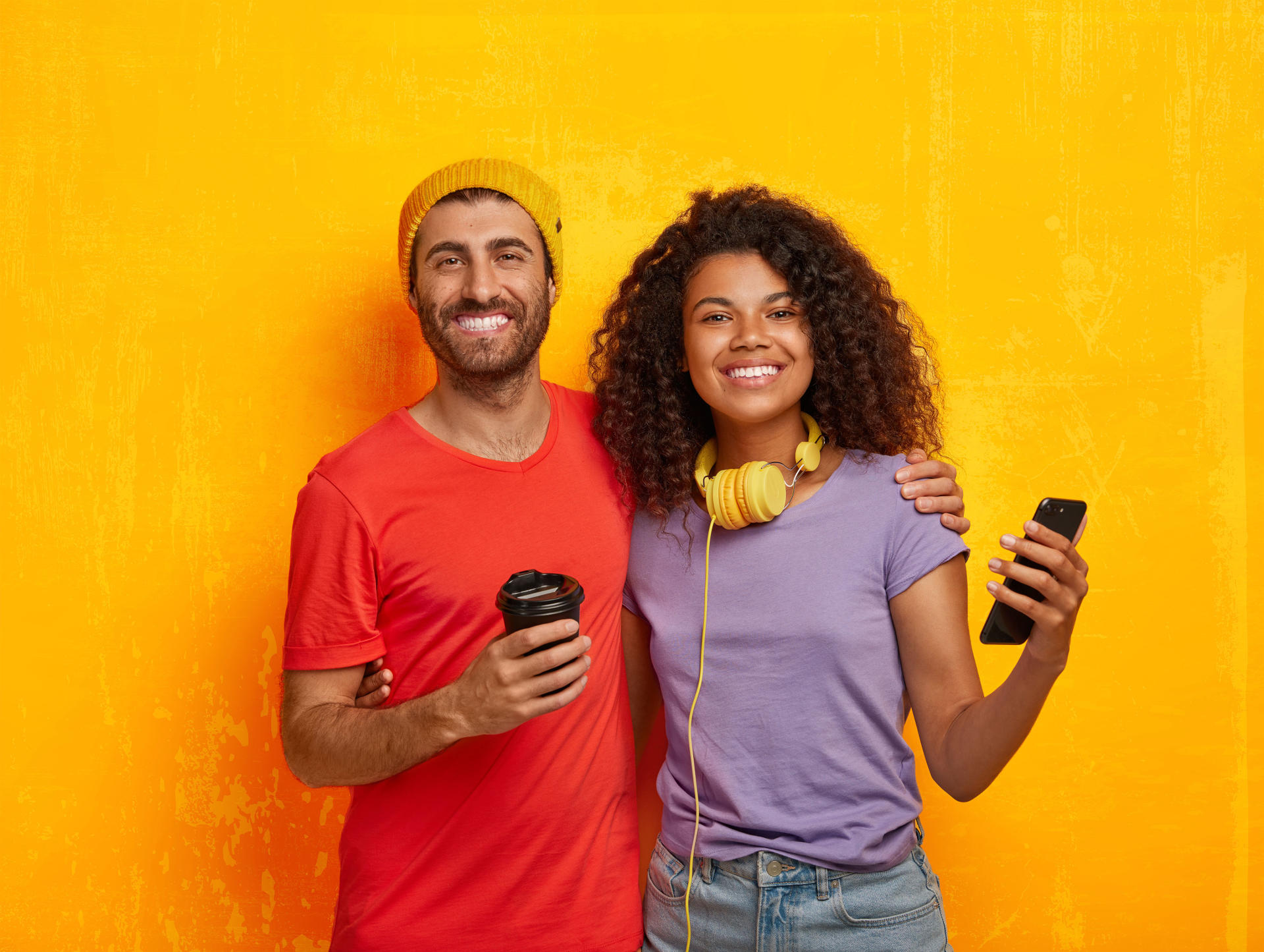 smiling millennials