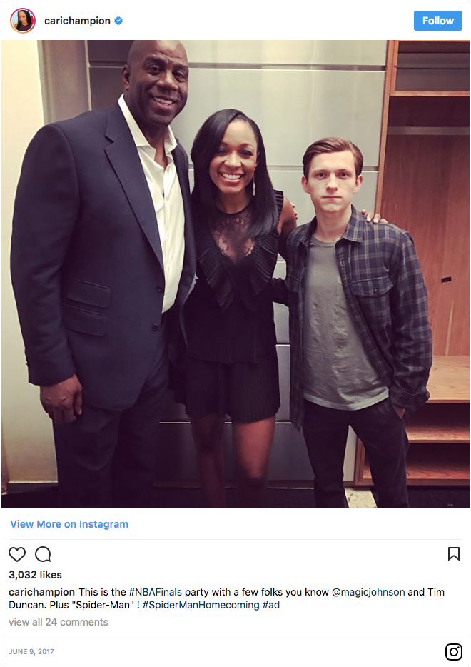 Cari Champion Post Spiderman Homecoming