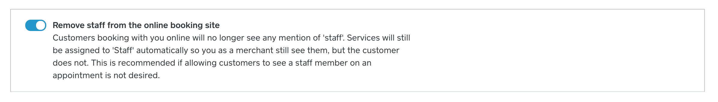 Remove Staff from Booking