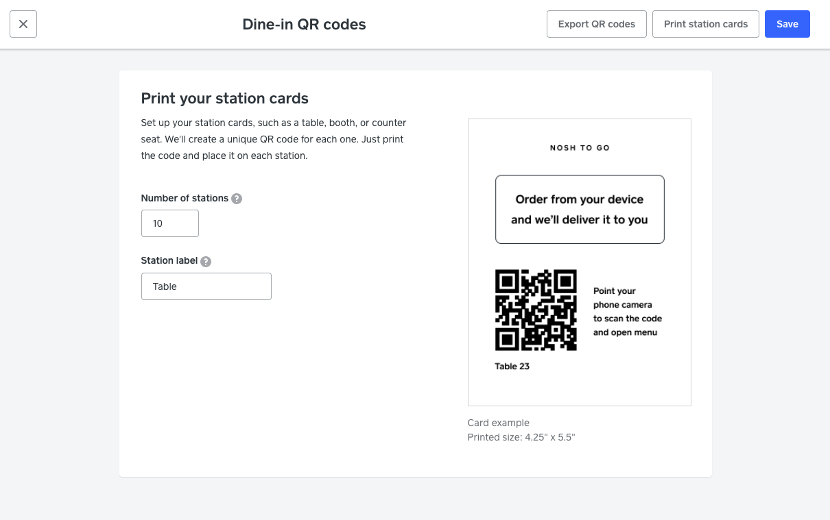 Station code selection