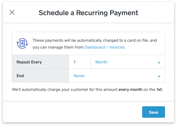 Set Recurring Payments Cadence in Virtual Terminal
