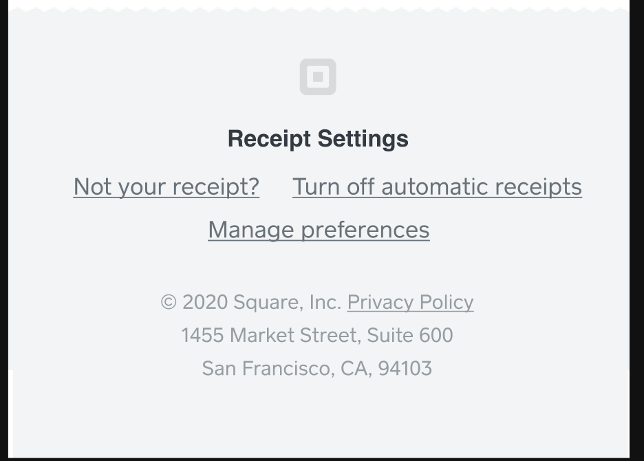 Square Profile Unsubscribe Email