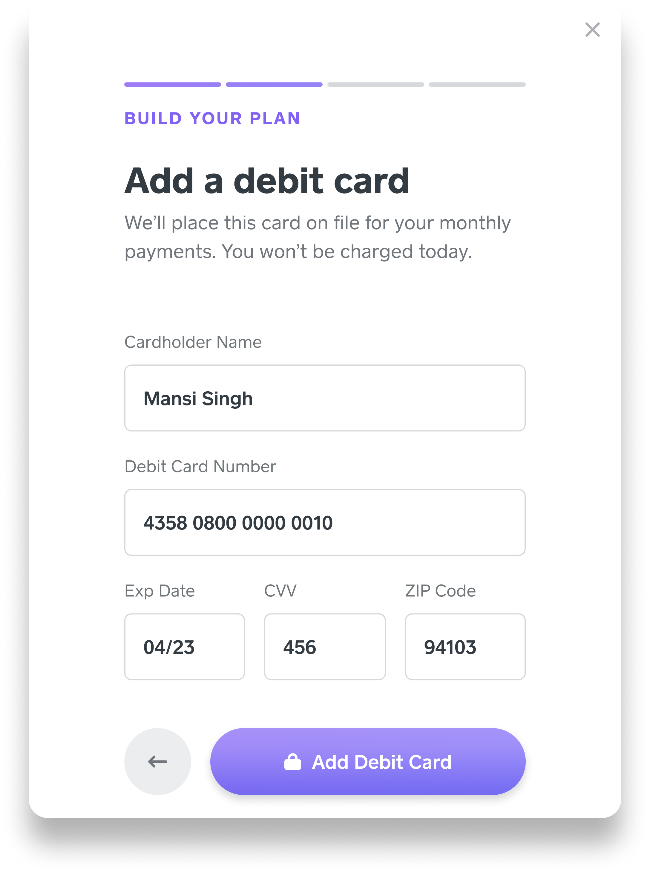 Square Capital - Link Card - US - App