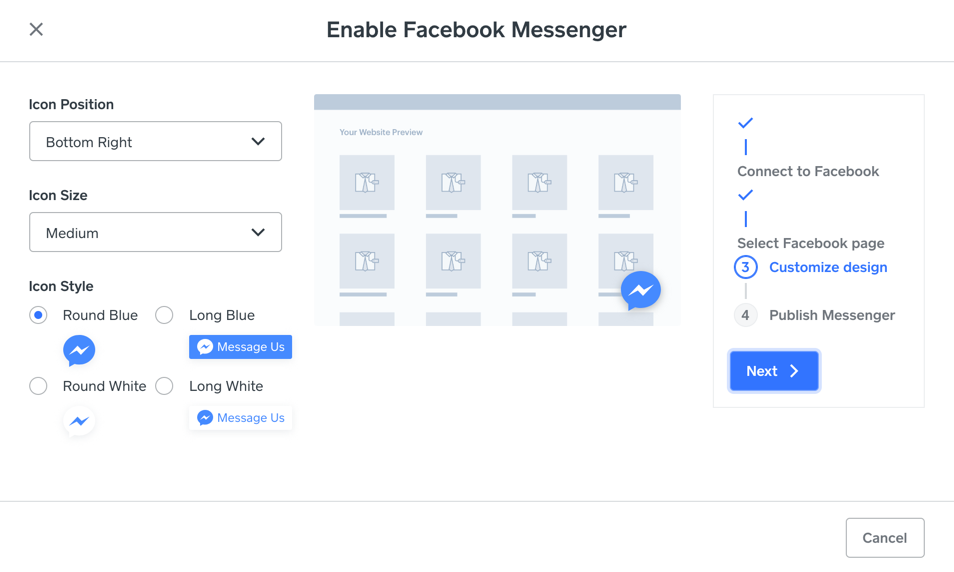 messenger-customize