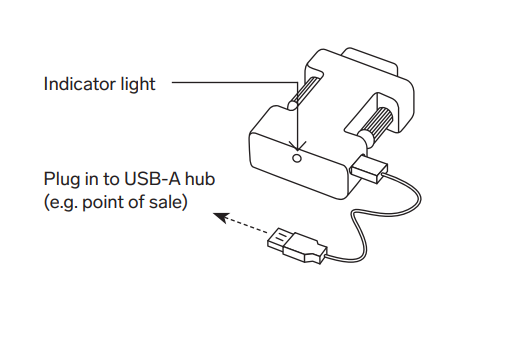 Plug the Micro-USB end of the cable into the adapter, and plug the USB-A side of the cable into your scale.