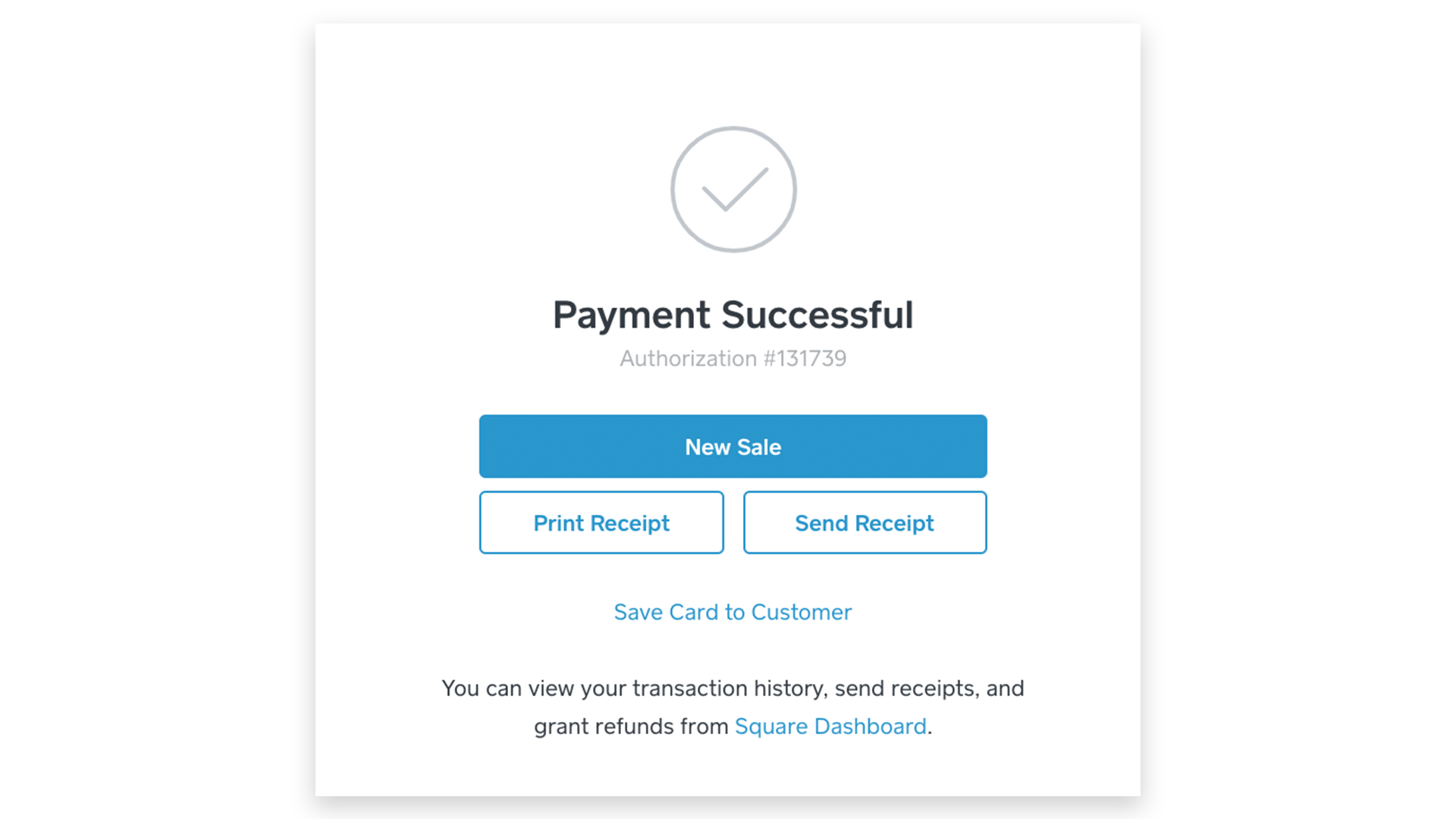 Payment Successful in Virtual Terminal