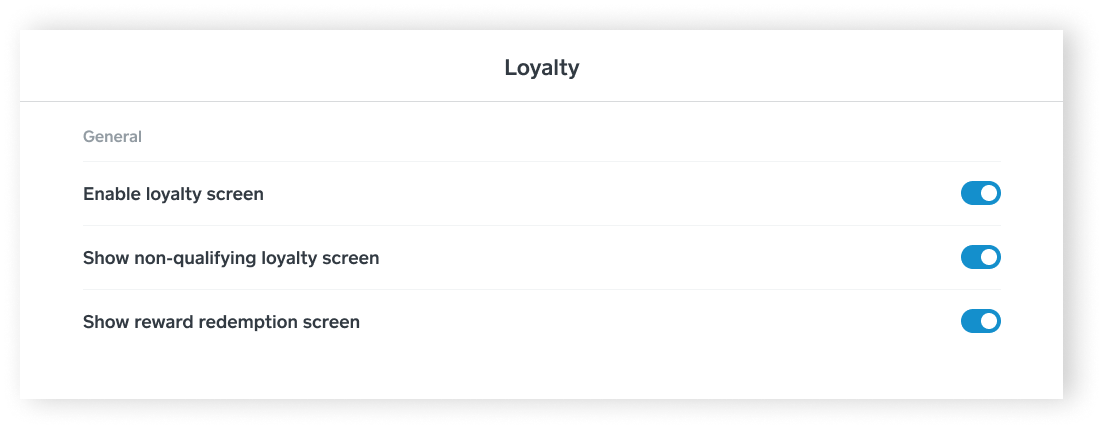 SPOS - Loyalty Settings - iPad - EN