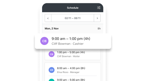 Shift Scheduling Schedule In-App