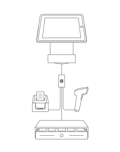 Square Stand accessories connection graphic