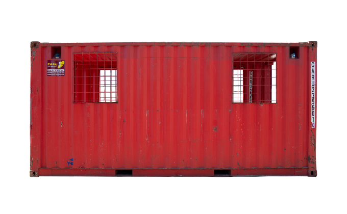 22TU 20FT TUNNEL CONTAINER RENT SIDE RED