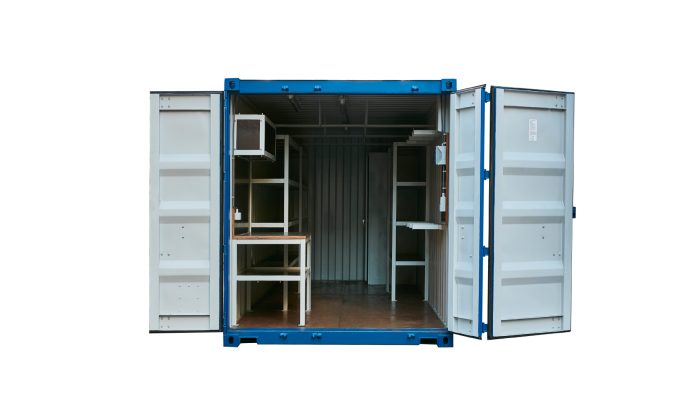 22K3 20FT Workshop new blue Doors