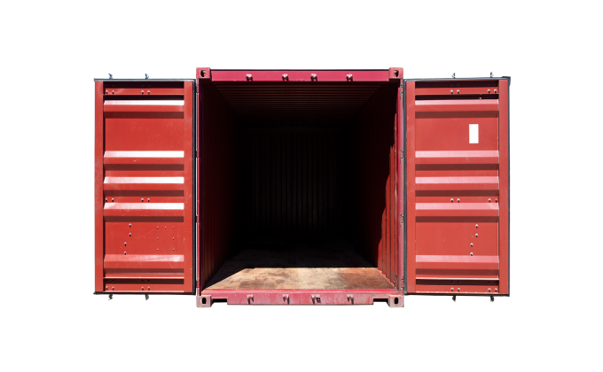22G1 20FT STANDARD RENT OPEN FRONT RED