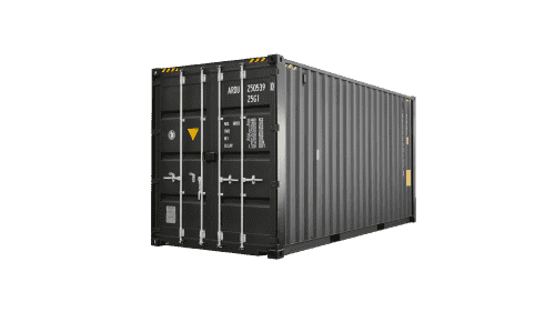 This photo is an new 20ft high cube container in black