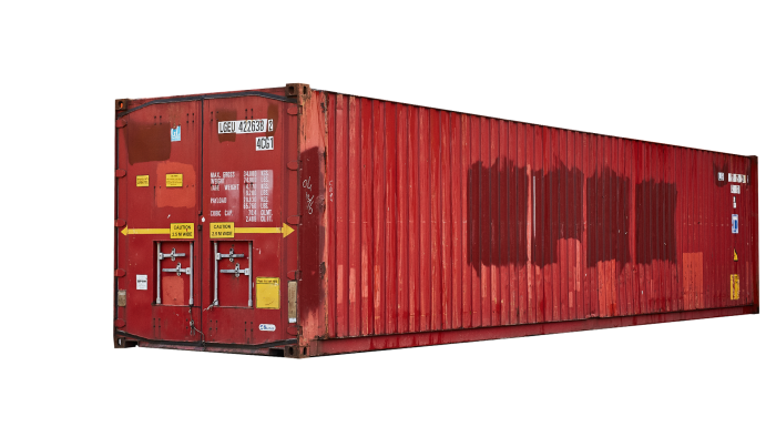 40ft Pallet wide container