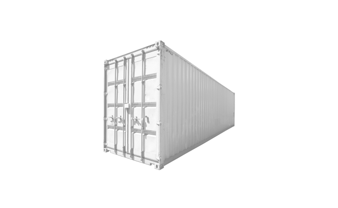 45G1 40FT HIGH CUBE USED CORNER WHITE