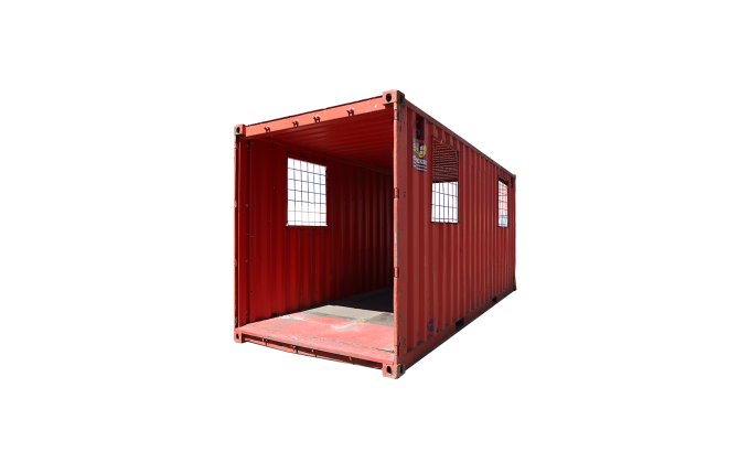 22TU 20FT TUNNEL CONTAINER RENT CORNER RED