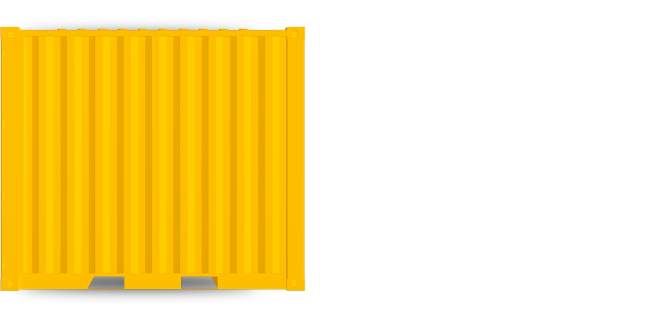 10ft Standard container