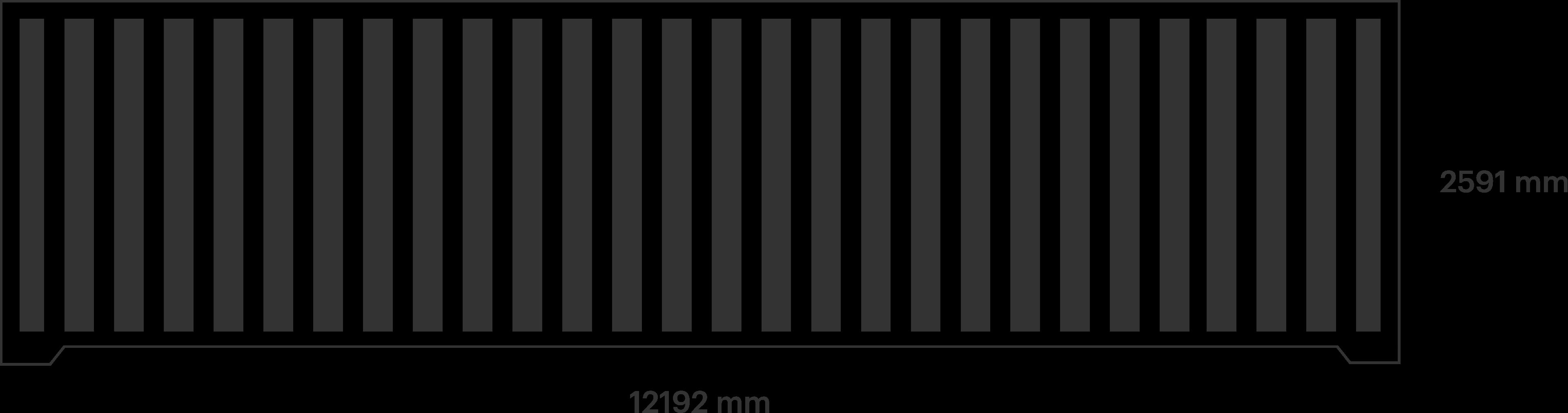 40ft Double Door container