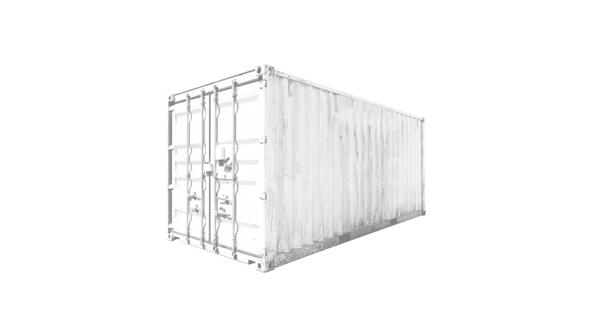 20ft Double Door container