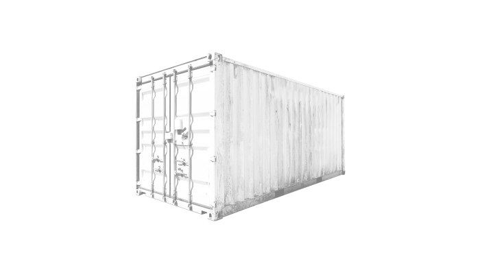 20ft Hard Top container