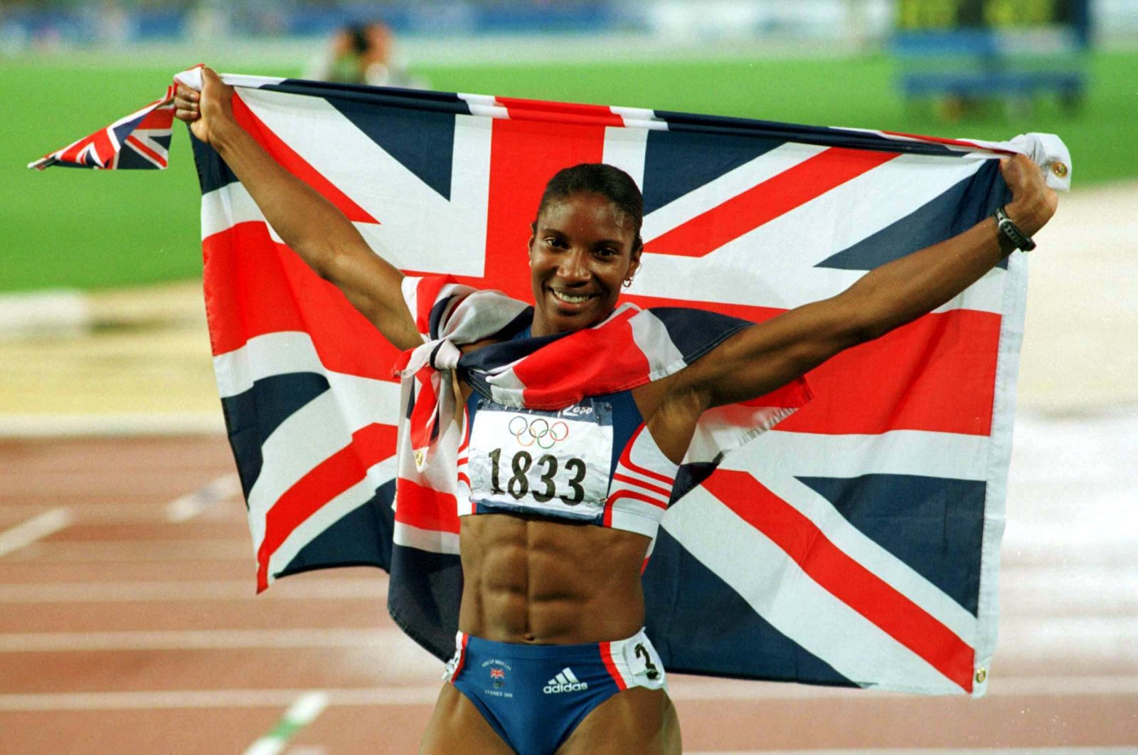 Denise Lewis GB flag