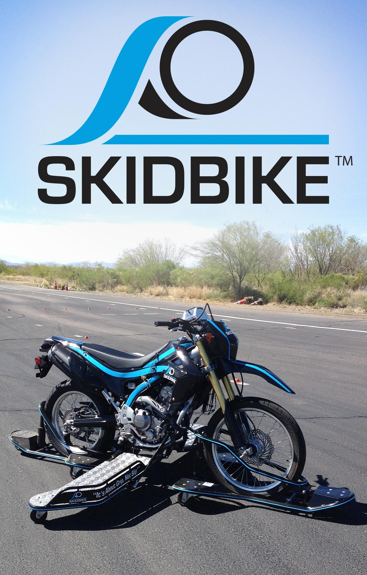 SKIDBIKE Hero Image and Logo