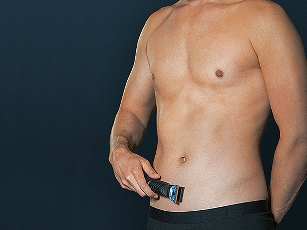 Trim your pubic hair with Braun body groomer