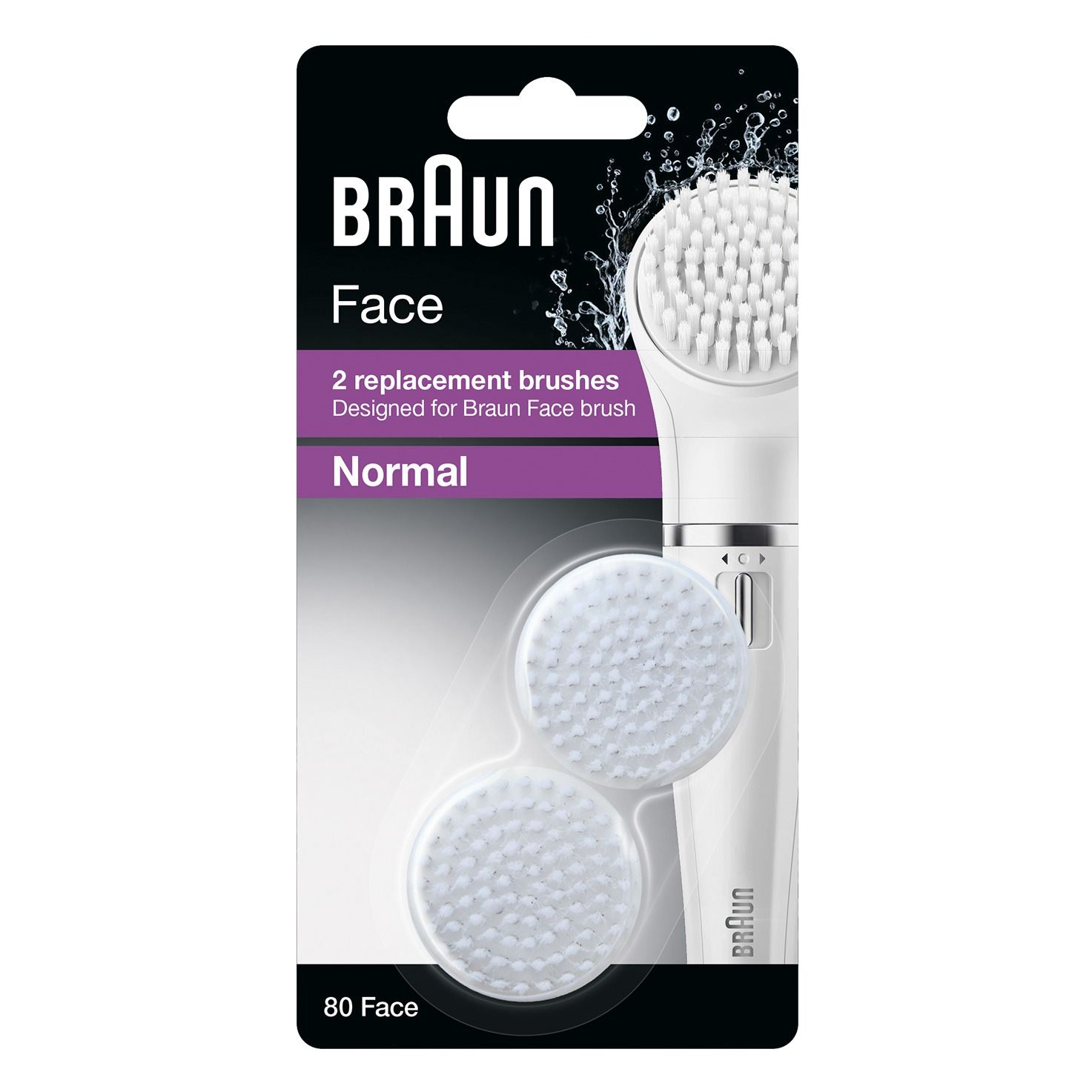 Braun facial cleansing brush refill pack 80 packaging