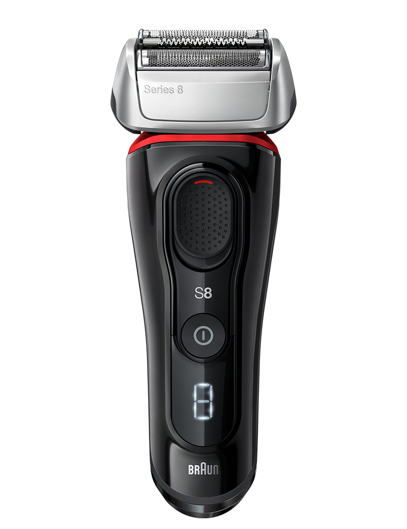 Series 8 black / red shaver