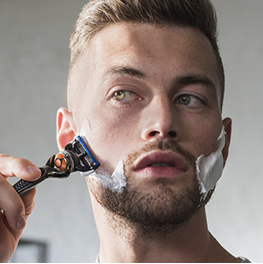 Clean shave to sharpen your look