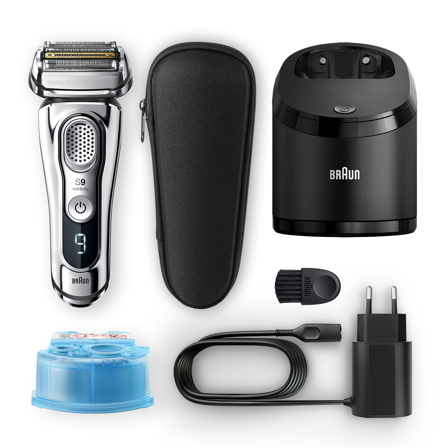 Series 9 9394cc shaver - What´s in the box