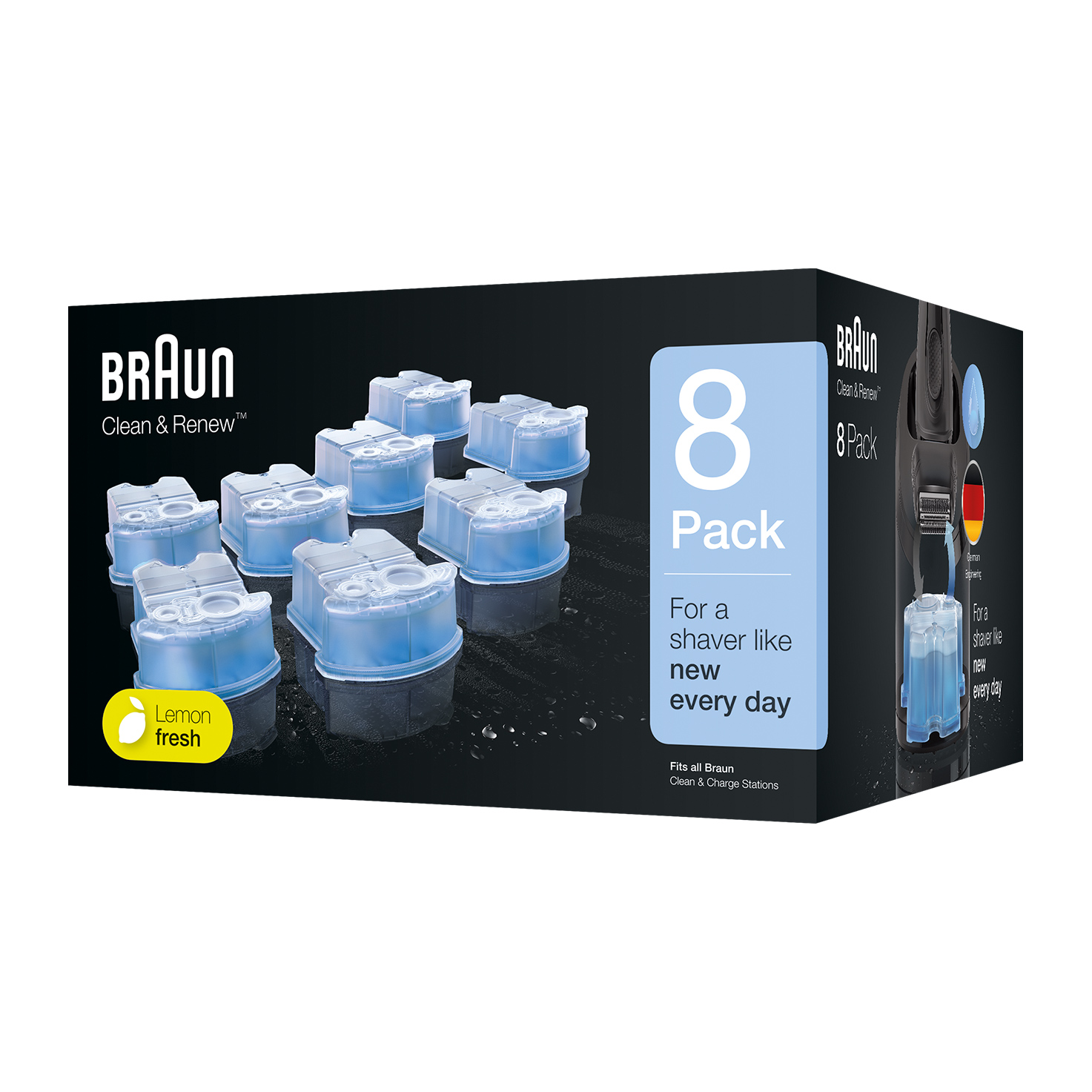 Braun Clean & Renew refill cartridges  CCR - 8 Pack