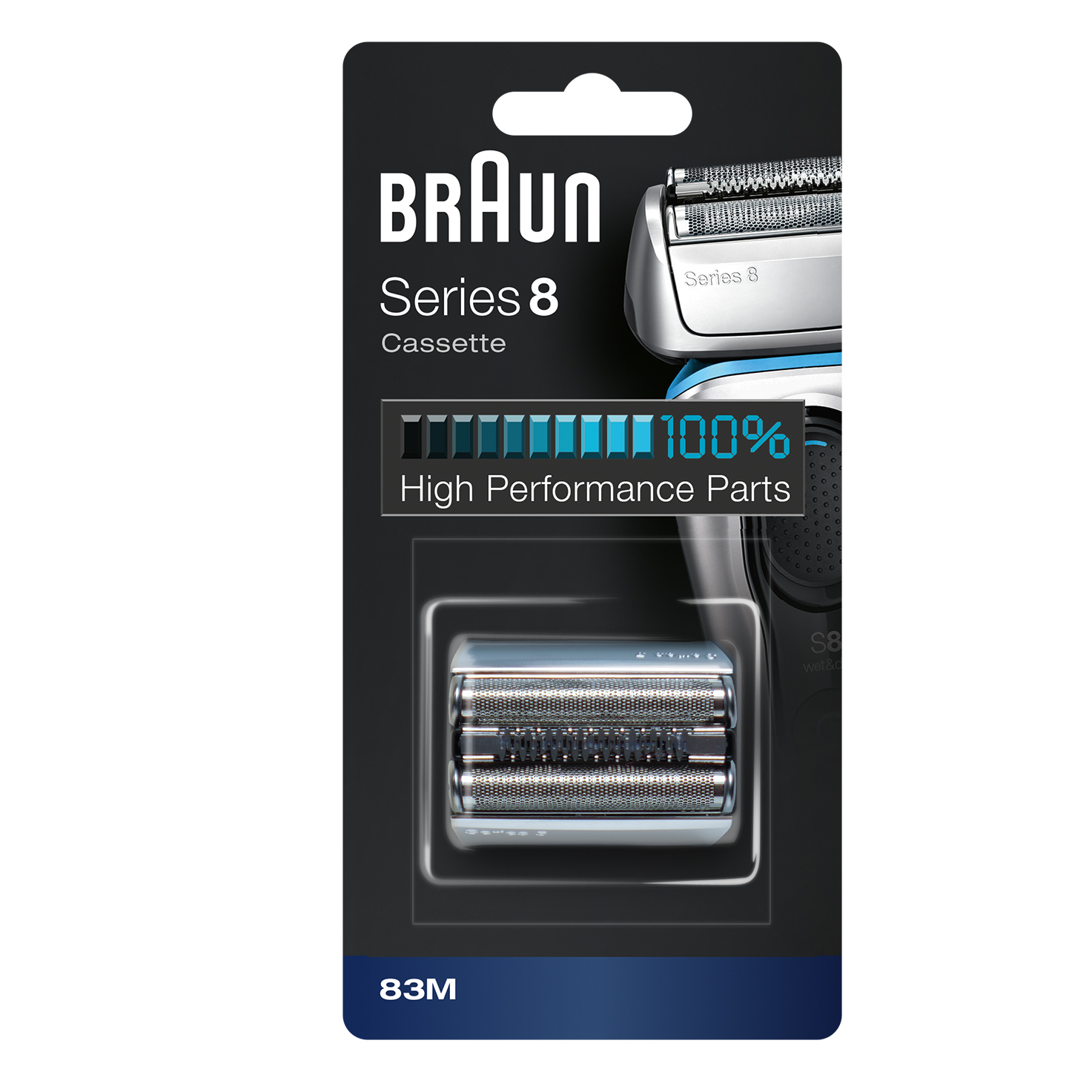 Braun Shaver Replacement Part 83M silver