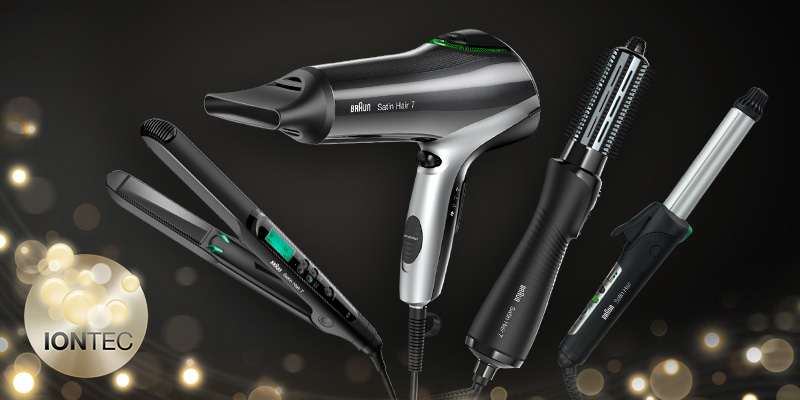 IONTEC straighteners, dryers and curlers from Braun.