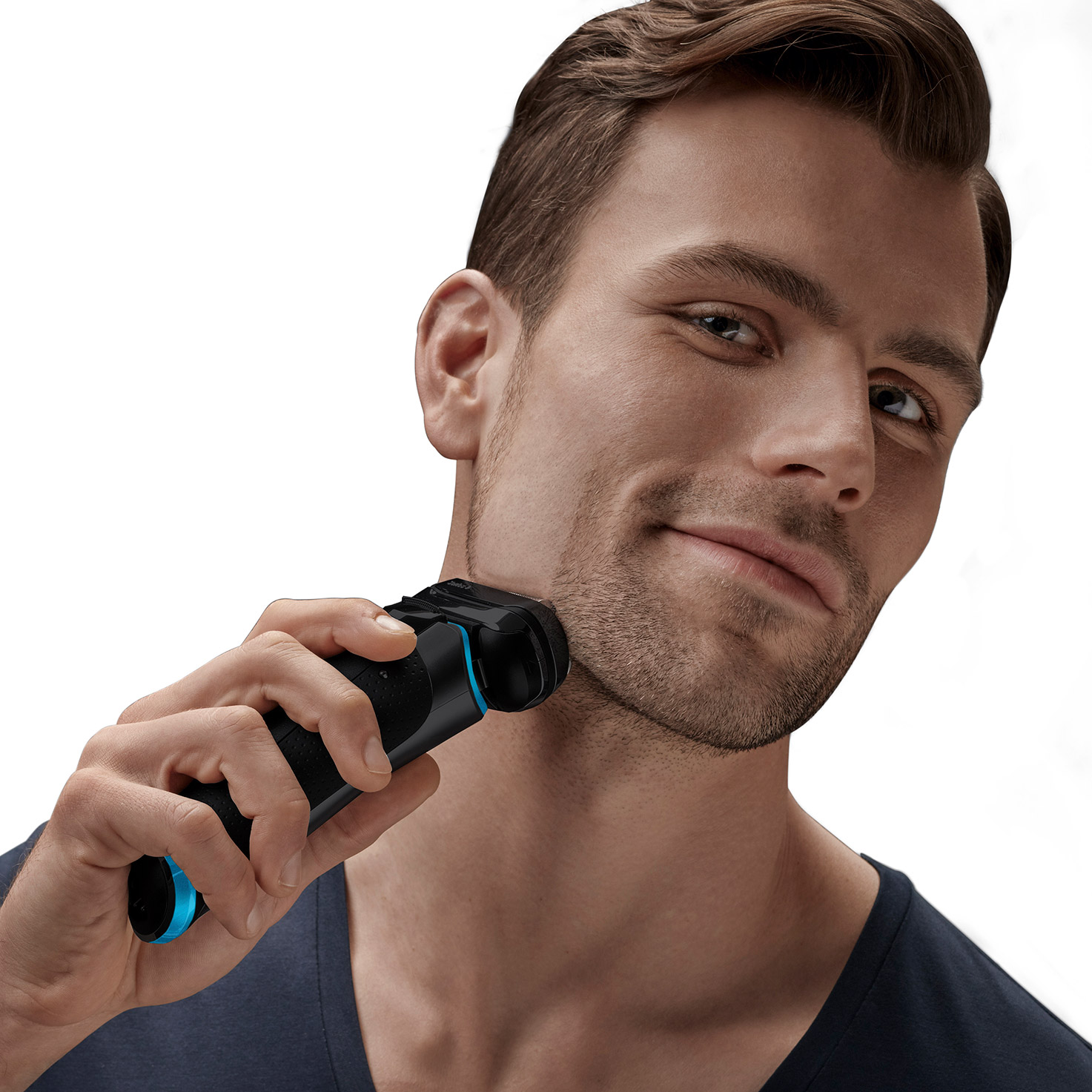 Braun Series 9 shaver - In use