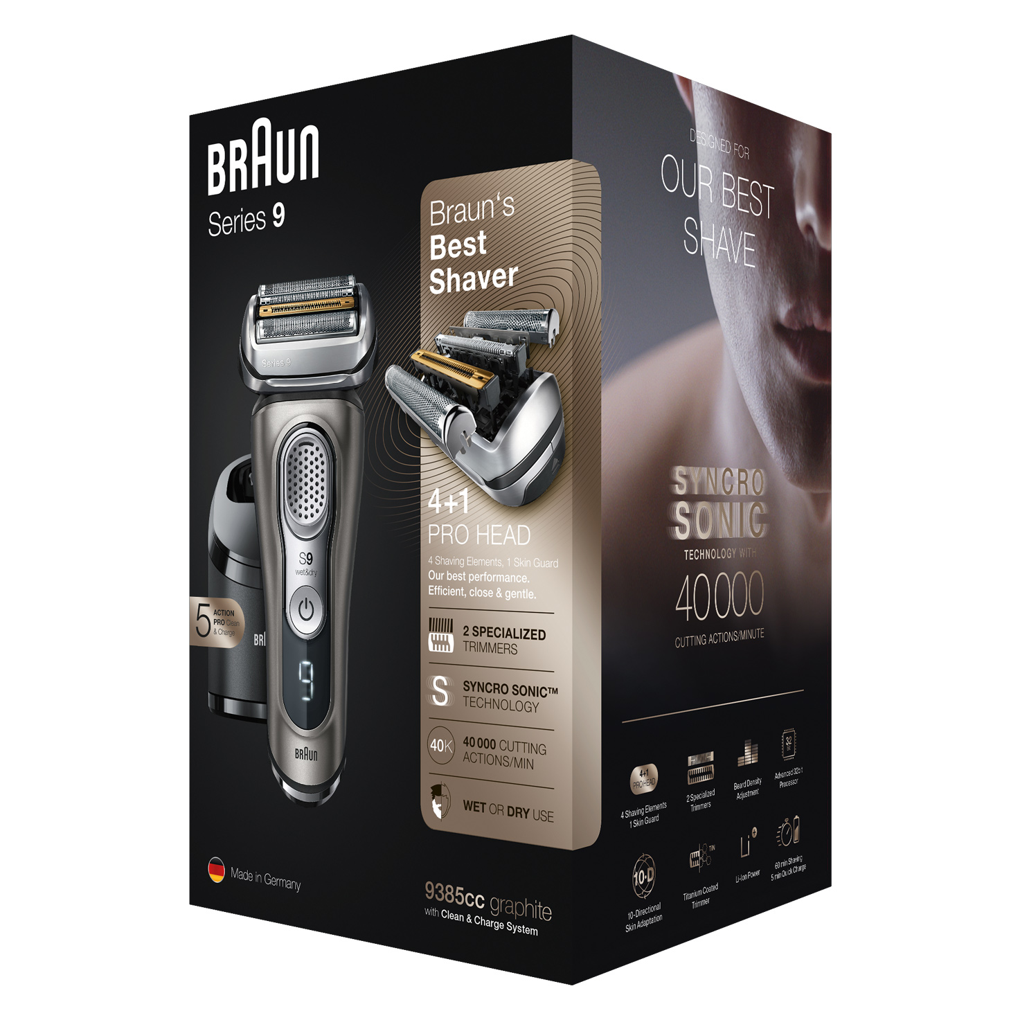 Series 9 9385cc shaver - Packaging
