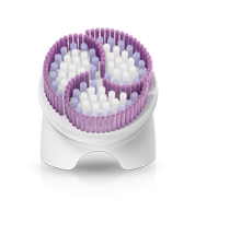 Gentle exfoliation brush