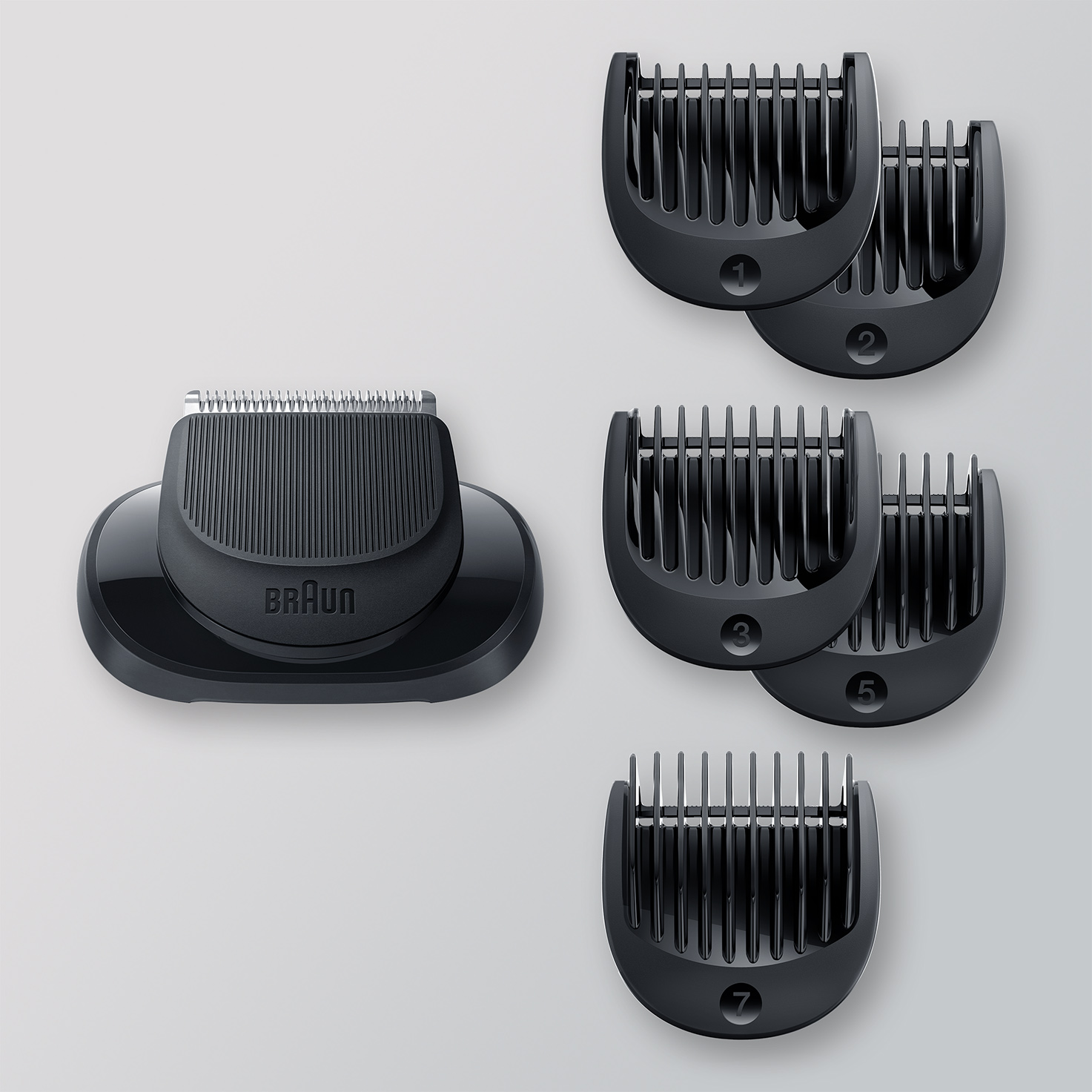 EasyClick Beard Trimmer attachment for Braun Series 5, 6 and 7 electric shaver (New generation).