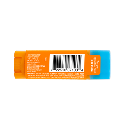 Lip Repair Cooling Relief Stick - Back of Stick