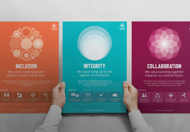 How do you unite a global organisation through shared values?
