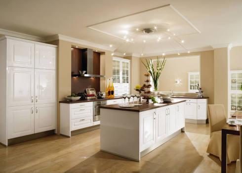 Weiße landhausküche