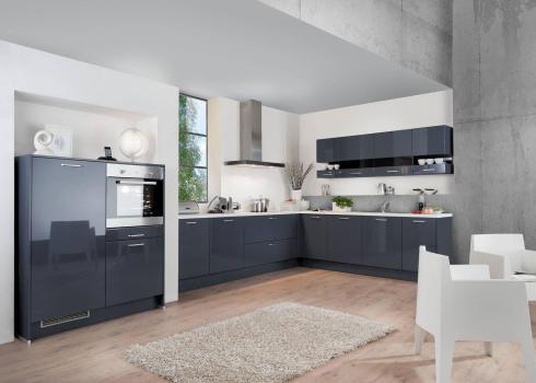 Küche blau grau  BLAUE KÜCHEN: Blaue Küche vergleichen + Blaue Küche planen mit ...