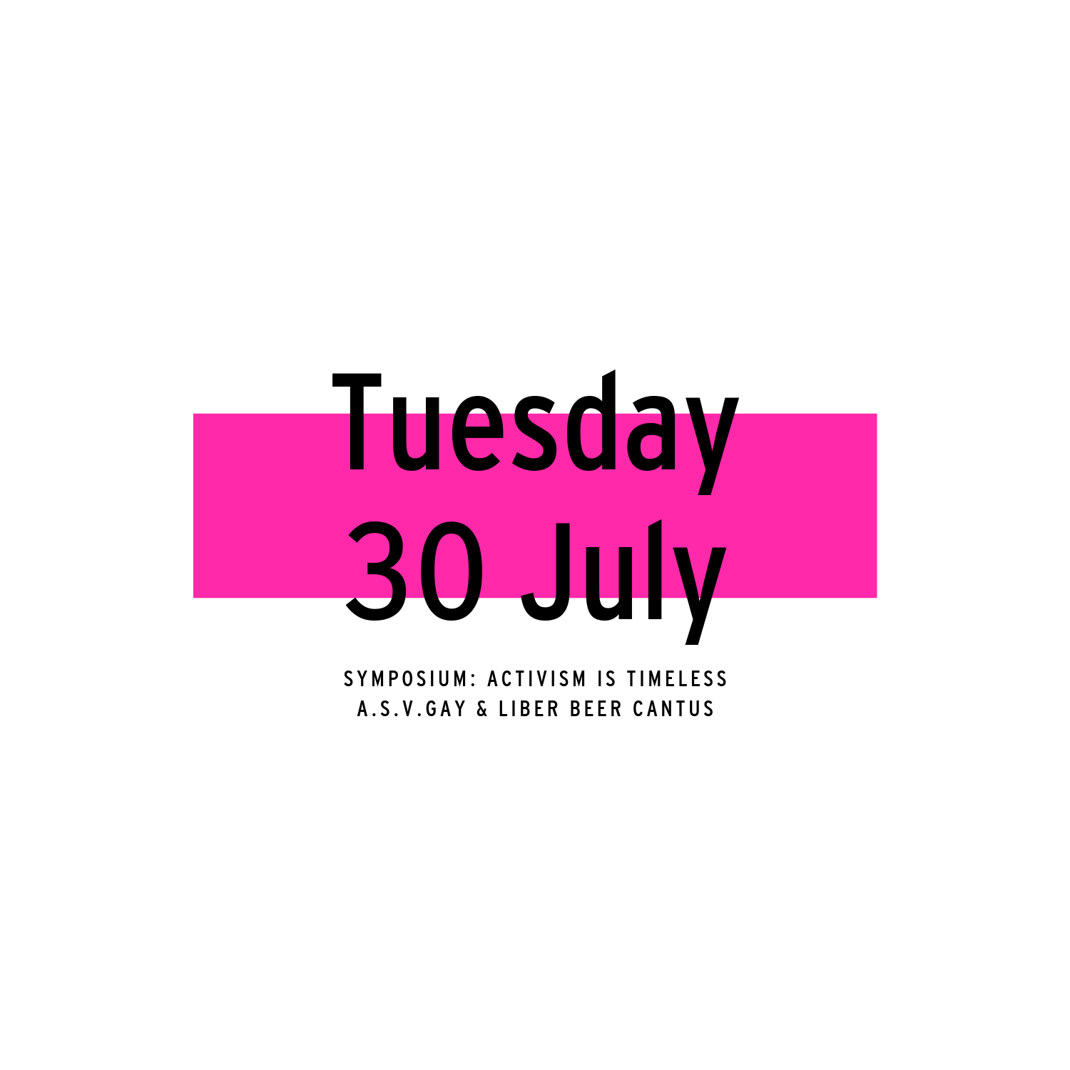 Tuesday 30 July | 2019